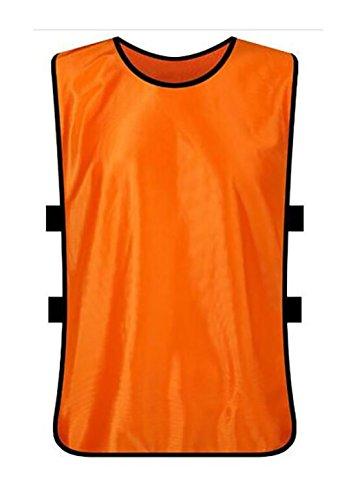 12 er Set Trainingsleibchen Markierungshemd Trainingsweste , 10 Farben (Orange, Erwachsene)