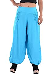Indi Bargain Rayon Pleated trendy trousers (310SBlue)