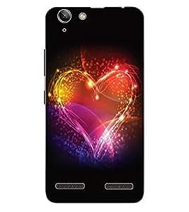 ColourCraft Beautiful Heart Design Back Case Cover for LENOVO LEMON 3