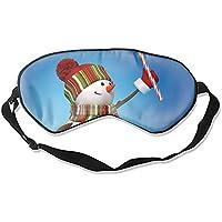 Schlafmaske, Schneemann, Zuckerstange, Seide, leicht, atmungsaktiv, bequem, weich, mit verstellbaren Kopfgurten... preisvergleich bei billige-tabletten.eu