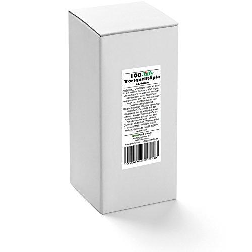 GREEN24 100 St. Jiffy Original Quell-Tabletten Torf-Quelltöpfe 44mm Aussaaterde Anzuchterde Torftablette mit Anleitung - 2