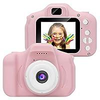 كاميرا فيديو رقمية للأطفال من ميترمول قابلة لإعادة الشحن وكاميرا الأطفال مضادة للصدمات 8ميجا بكسل اتش دي وكاميرا الأطفال زهري