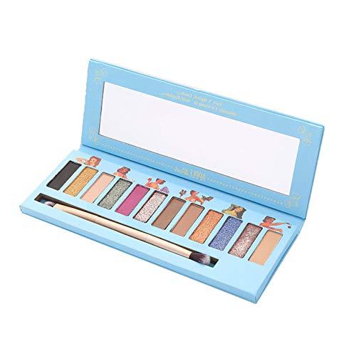 MORETIME Schimmern Sie Glitter Lidschatten Pulver Palette Matte Lidschatten Kosmetik Make-up (M,...