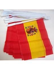 GUIRNALDA 6 metros 20 BANDERAS de ESPAÑA 21x15cm - BANDERA ESPAÑOLA 15 x 21 cm - BANDERINES - AZ FLAG