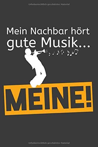 Mein Nachbar hört gute Musik... Meine!: Linierter DinA 5 Jahres-Kalender 2020 für Musikerinnen und Musiker Terminplaner Musik Kalender