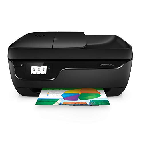 HP Officejet 3831 Multifunktionsdrucker (Instant Ink, Drucker, Kopierer, Scanner, Fax, WLAN, Airprint) mit 2 Probemonaten HP Instant Ink inklusive (Scanner Drucker Kleine)