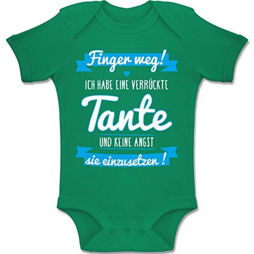 Baby - Ich Habe eine verrückte Tante Blau - 1-3 Monate - Grün - BZ10 - Baby Body Kurzarm Jungen Mädchen ()