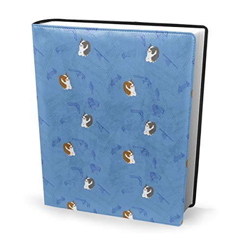 Dress rei Book Cover Agility Aussies Blue Waterproof PU Leather School Book Protector Washable Reusable Jacket 9x11 in - Protector Hard Case, Snap