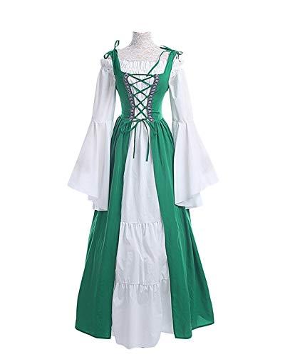 DianShaoA Damen Mittelalter Kleider Viktorianischen Königin Kleid Cosplay -