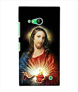 Fuson 3D Printed Lord Jesus Designer Back Case Cover for Nokia Lumia 730 - D541