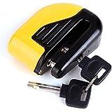 CLE DE TOUS - Candado antirrobo con alarma Bloqueo de Disco con Alarma Antirrobo Candado para Moto Bicicletas Con dos Llaves