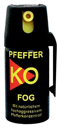 3 Dosen KO Fog Pfefferspray mit Sprühnebel 40ml - Abwehrspray Familienpackung -