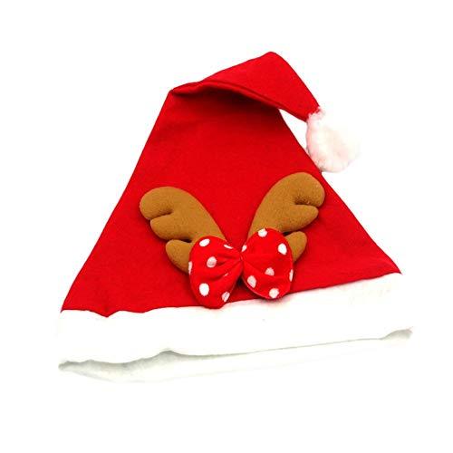 HPEDFTVC 6 Stück Erwachsene/Kinder Weihnachten Rentier Hut Caps Niedlich Weihnachten Weihnachtsmann Mütze Rot Geweih Weihnachten Party Decor ()