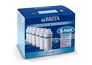 Brita 100406 Pack de 6 Cartouches CLASSIC