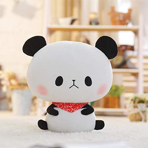 Mutterschaft Schlaf Kissen (BAONZEN Niedlichen Panda Plüsch Puppe Ausdruck Panda Puppe Spielzeug Ragdoll Schlaf Kissen Geburtstagsgeschenk Mädchen, Mann.Panda Expression Puppe Roter Schal Auge, 40cm)