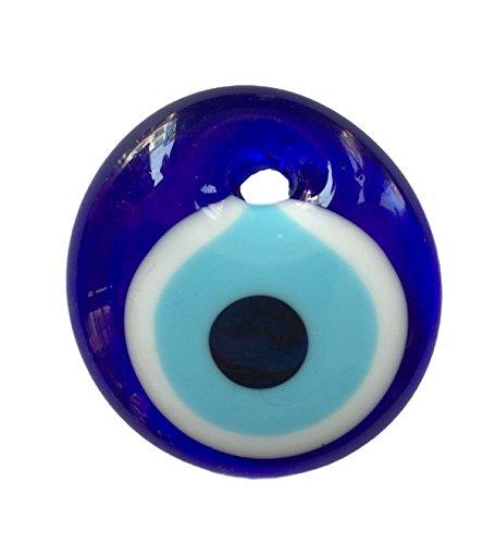 Juego de 5 colgantes de pared con diseño de ojo turco Nazar y amuleto de la suerte, color azul