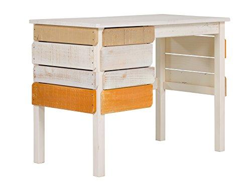 Preisvergleich Produktbild Massivum 10024231 Safari Schreibtisch,  Holz,  orange,  100 x 53 x 75 cm