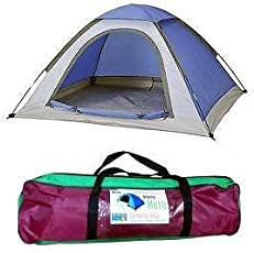 YFXOHAR Picnic Camping Portable Waterproof Tent for 4 Person/Camping Dome Tents (Colour May Vary)