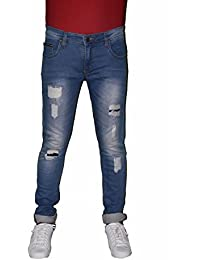 Detne Men Blue Slim Fit Mid Rise Mildly Distressed Jeans