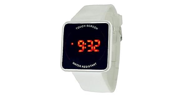 Platz LED-Touch-Uhr / Spiegel Uhren für Männer und Frauen-Weiß ...