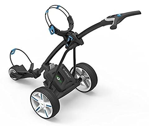 Hill Billy Electric Golf Trolley Cart Blue trim inc 18-hole Lithium Battery and Charger