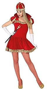Atosa 28430 - reina, damas traje, tamaño 42/44, rojo