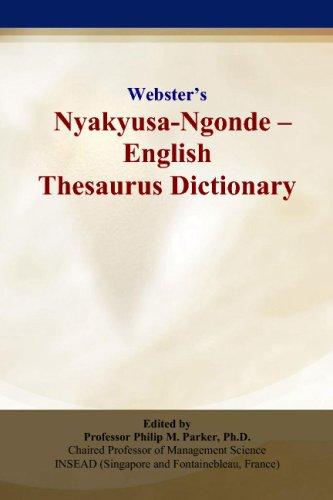 Webster's Nyakyusa-Ngonde - English Thesaurus Dictionary
