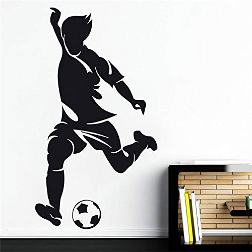 zqyjhkou Neymar Wandaufkleber Wandtattoo Fußball Sport Team Spiel Kinder Schlafzimmer Wohnkultur Aufkleber Wohnzimmer D396 58 X 32 cm -