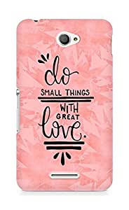 AMEZ do great things with love Back Cover For Sony Xperia E4
