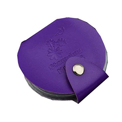 Stampaggio arte DIY del chiodo del piatto di immagine Holder Modello di sacchetto filtro di Stamp Organizer(Viola), Fami