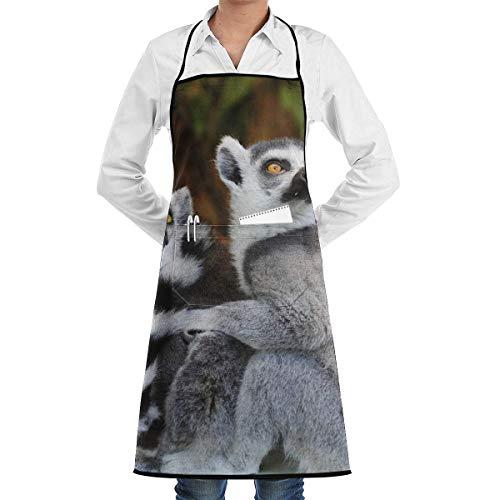 waist apron Ring-Tailed Lemur Aprons Bib for Mens Womens Fun String Adjustable Adult Kitchen Waiter Schürzen mit - Ring Tailed Lemur Kostüm