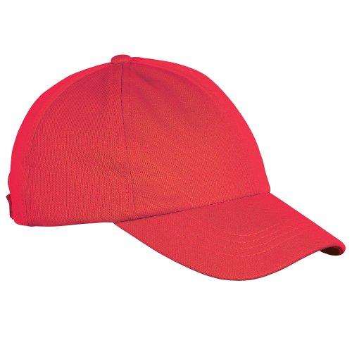 Just Cool - Casquette de baseball - Enfant unisexe Rouge feu