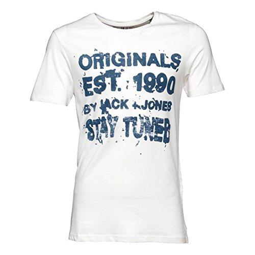 Jack & Jones Herren T-Shirt Weiß
