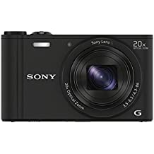Sony DSCWX350 Digital Compact Camera with Wi-Fi and NFC (18.2 MP, 20x Optical Zoom) - Black