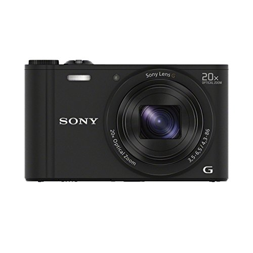 Sony DSC-WX350 Digitalkamera (18 Megapixel, 20-fach opt. Zoom, 7,5 cm (3 Zoll) LCD-Display, NFC, WiFi) schwarz (Digital Kamera)
