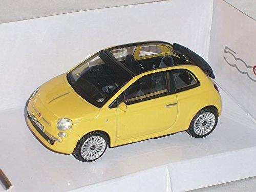 fiat-500c-500-c-gelb-cabrio-1-43-mondo-motors-modell-auto-modellauto