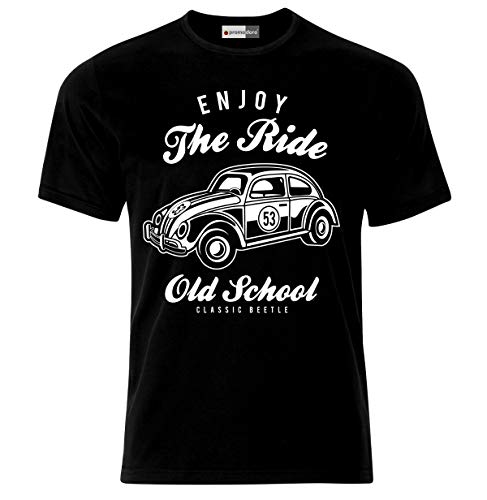 7409dc4ec Enjoy The Ride Vintage Hot Rod Rockabilly Car Auto T-Shirt (3XL)