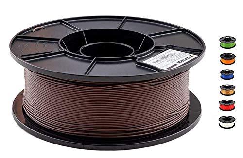 JANBEX PLA (Braun) Filament 1,75 mm 1kg Rolle für 3D Drucker oder Stift in Vakuumverpackung
