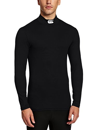 Canterbury Herren Bekleidung Cold Basisschicht Mock Neck Lange Kompression Top, Black, L, E544111-989 (Mock Neck Rollkragen-shirt)