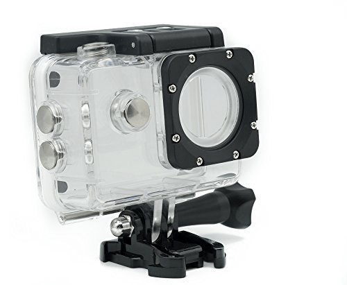 QUMOX 2nd Gen Wasserdicht Gehäuse Tasche Unterwassergehäuse Wasserdichte Schützende Gehäuse-Kasten für SJ4000 WiFi SJ4000 Sport-Kamera Helmkamera - Sjcam 4000 Wifi