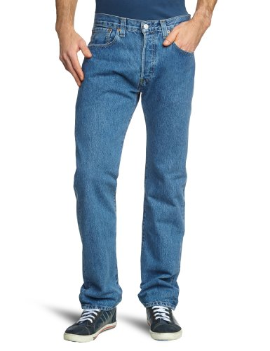 Levi's Herren Jeans 501 Straight Fit,50108410 Lang, Gr. 29/32, Blau (Medium Stonewash) (Baja Denim)