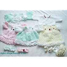 Häkelanleitung  – CP25 - Babykleid und Jacke