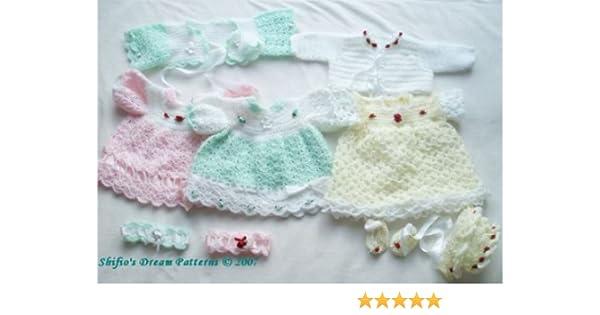 Häkelanleitung – CP25 - Babykleid und Jacke eBook: ShiFio\'s Patterns ...