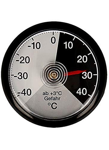 Lantelme Autothermometer Bimetall Analog Selbstklebend Auto LKW PKW Thermometer Kunststoff schwarz 4180