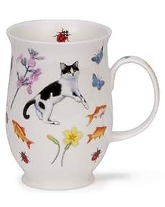 Dunoon tasse suffolk garden cats &blanc)