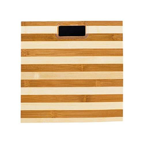 LQZZH Scala del Peso Modello di Zebra Bilancia di bambù Scala della Salute Umana in Legno Protezione antidisturbo Design Bilancia per Il Peso @ 1