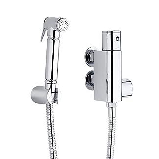 Hudson Reed Kit con Ducha Higiénica para WC con Llave Mezcladora Termostática