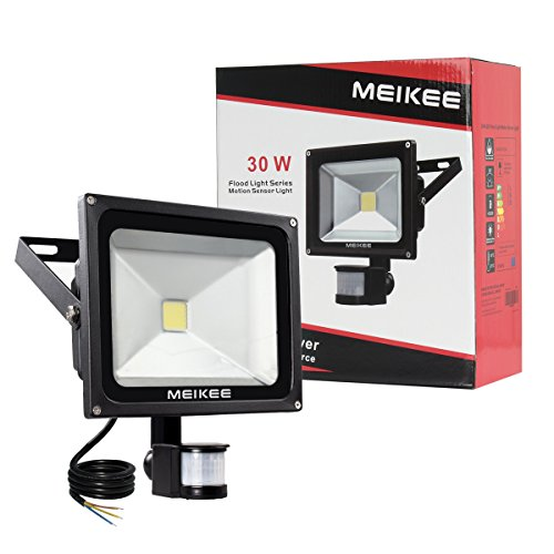 Meikee security lights with motion sensor 30w super bright led meikee 30w motion sensor light super bright led aloadofball Image collections