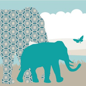 anna wand Bordüre selbstklebend HELLO AFRIKA TÜRKIS/BLAU/GRAU - Wandbordüre Kinderzimmer / Babyzimmer mit Afrika-Tieren in versch. Farben -...