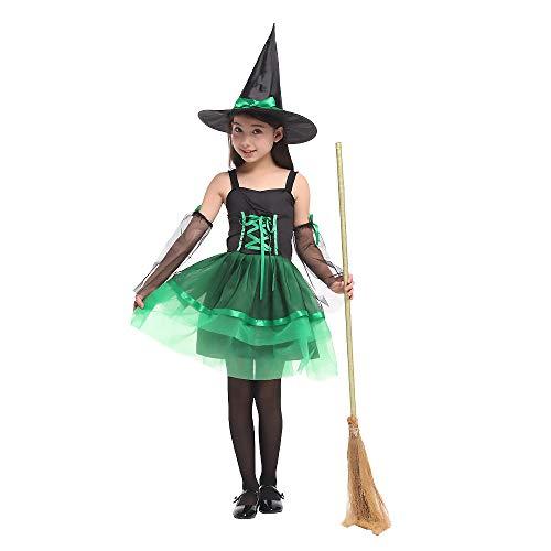 Purim Kostüm Kinder - BUY-TO Lila Halloween Purim Kostüm Magier Harry Potter Kostüme Kleid Fantasie Cosplay für Mädchen Kinder Show,G-0195D,XL(130-140cm)